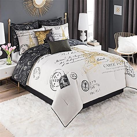 paris queen comforter set paris gold comforter set bed bath beyond