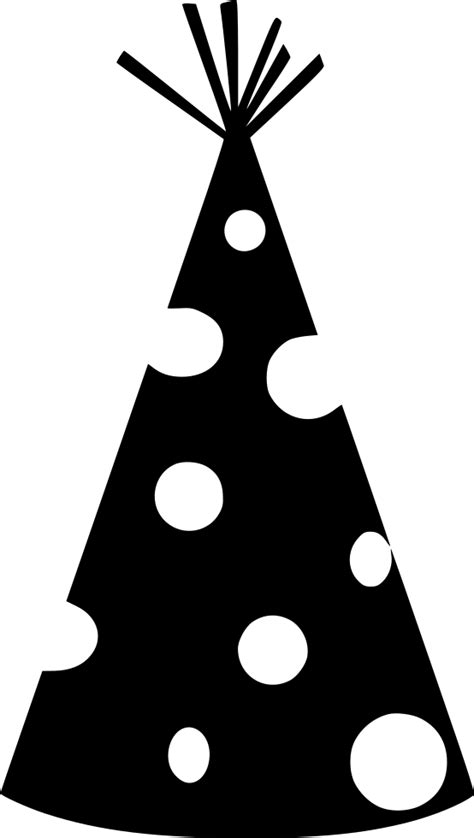 party hat circle dot svg png icon