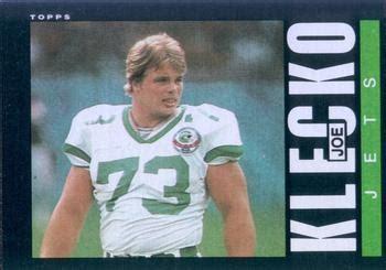 joe klecko bench press joe klecko bench press 1985 topps 341 joe klecko the trading card database