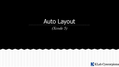 xcode auto layout update frames auto layout on xcode 5