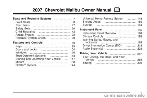 service manual free service manuals online 2007 chevrolet avalanche parental controls chevrolet maxx 2007 6 g owners manual