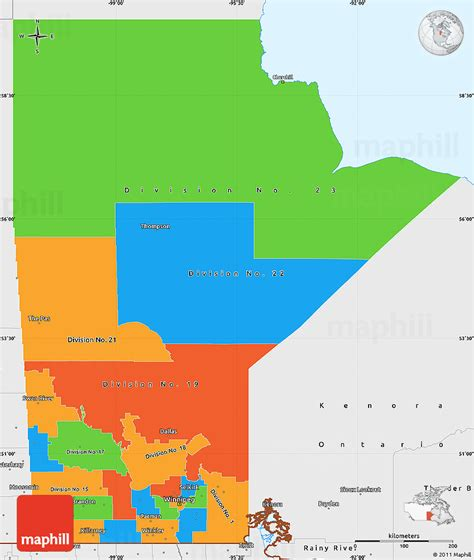 map of manitoba us border political simple map of manitoba single color outside