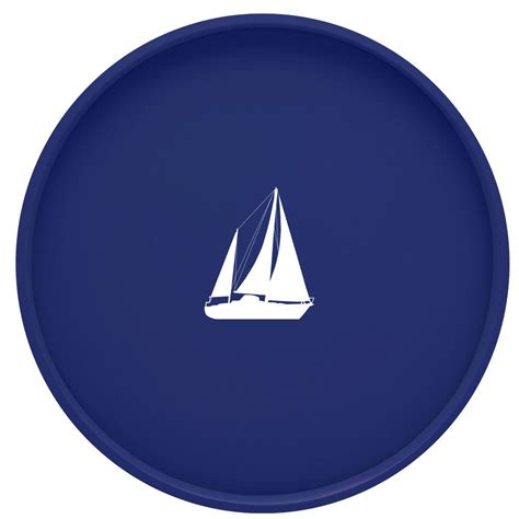 round sailboat kraftware kasualware sailboat 14 in round serving tray in