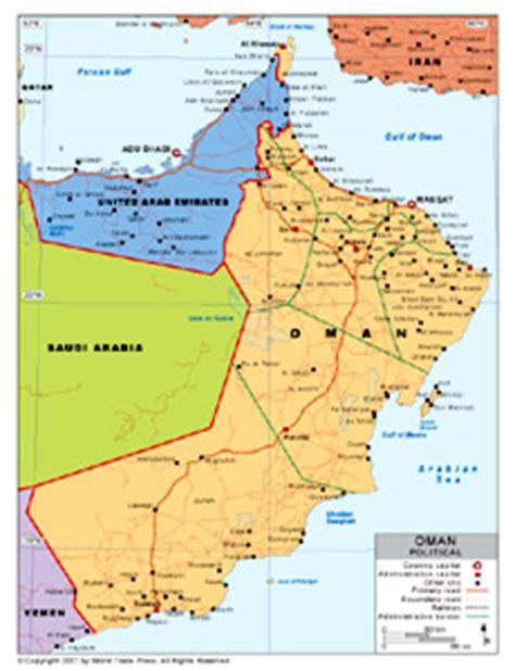 oman political map oman stra 223 enkarte