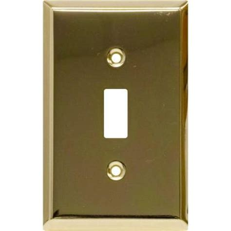 ge 1 toggle switch wall plate faux brass 52104 the