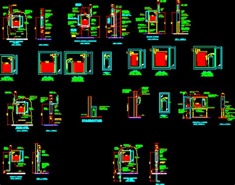 cabinets  fire extinguishers dwg detail  autocad