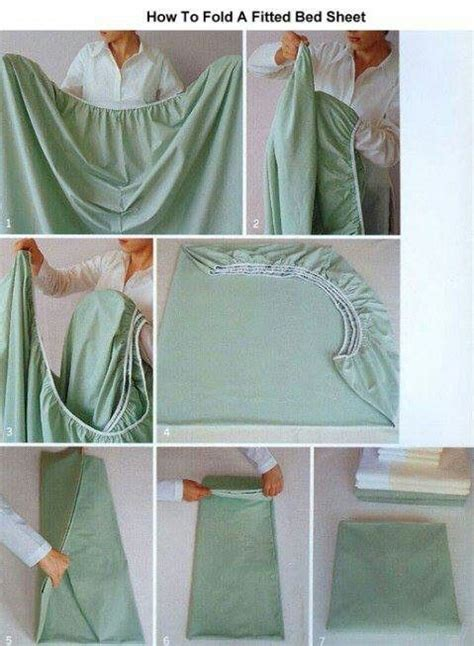 how to fold a fitted sheet for the home pinterest