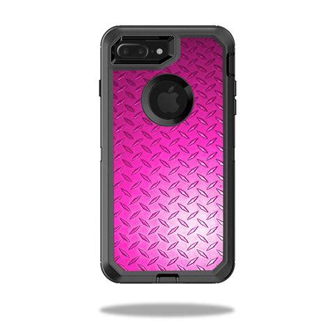 skin decal wrap  otterbox defender iphone   case pink diamond plate ebay