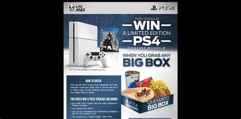 Taco Bell Ps4 Sweepstakes - tacobell com winps4 taco bell and playstation game win