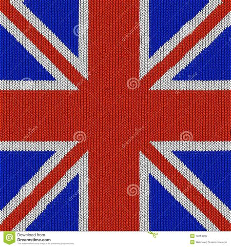 pattern english english flag in knitting pattern stock illustration
