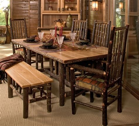 Log Dining Room Table Hickory Log Dining Table Hickory Log Furniture The Log