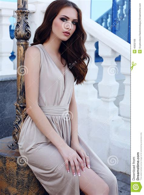 dark haired beautiful women modeling clothes beautiful girl with dark hair and blue eyes in elegant