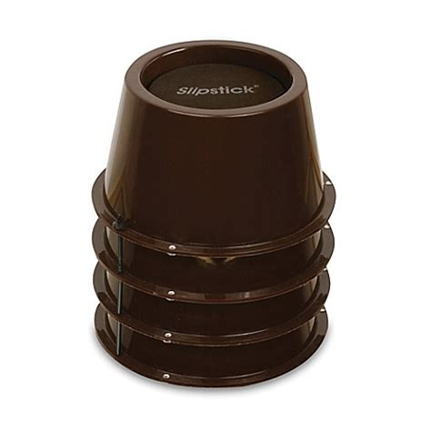 bed lifters bed bath and beyond buy 2 inch lift bed furniture risers in chocolate set of 4 from bed bath beyond