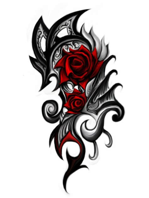 scottish rose tattoo smaller tribal by patrike on deviantart
