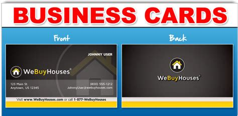 We Buy Gift Card - business cards we buy houses 174 marketing portal