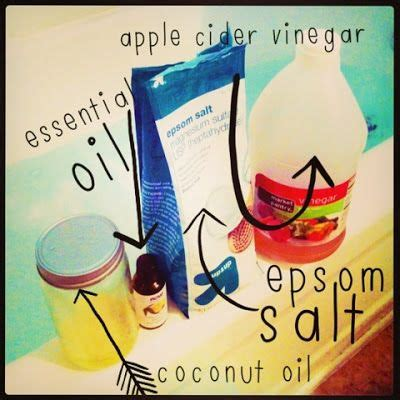 Apple Cider Vinegar And Epsom Salt Detox Bath by 7 Best Images About Health And Aids On