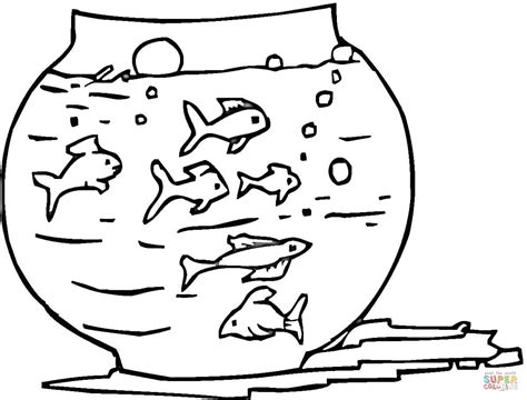 coloring page fish tank fish tank coloring page free printable coloring pages