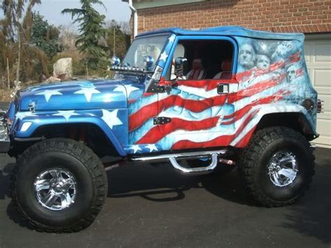 american flag jeep best airbrush usa flag on full body jeep car airbrush