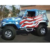 Best Airbrush USA Flag On Full Body Jeep Car