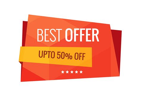 best free offers best offer sale banner vector free vector