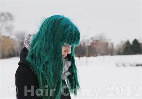 Dark Green Hair Turquoise Without Bleach   going from dark brown hair to teal without bleaching