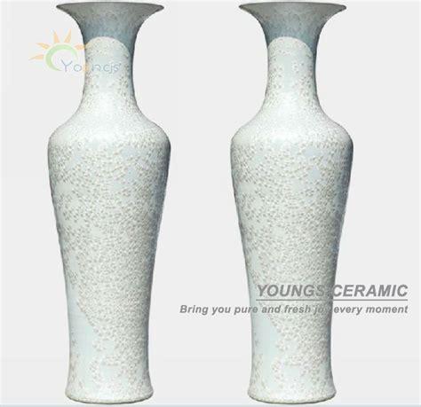Large White Vases For Sale by Jingdezhen Crystalline Glazed White Large Ceramic Floor