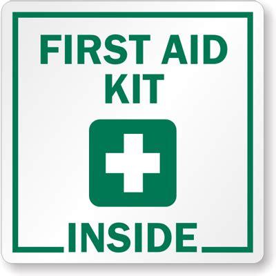 Etiketten Zeichen by Aid Kit Inside With Symbol Label Sku Lb 1491