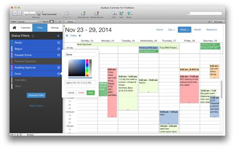 filemaker pro calendar template free filemaker calendar and resource scheduling seedcode