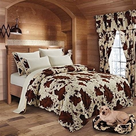 Cow Print Comforter Set by 20 Lakes Soft Microfiber Rodeo Cow Print Comforter