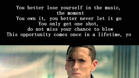 eminem lose yourself lyrics eminem lose yourself lyrics quot a safe kind of high