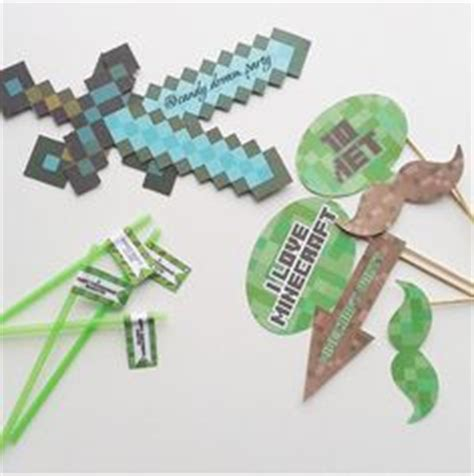 printable minecraft photo booth props pinterest the world s catalog of ideas