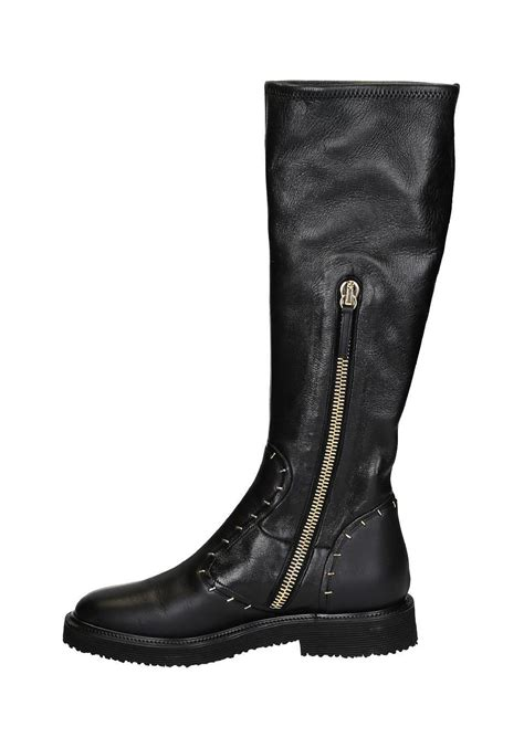 giuseppe zanotti knee high boots in black leather