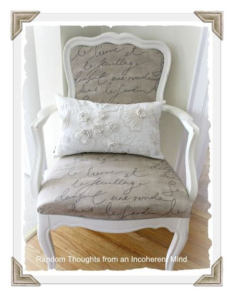 scripted chair reupholstery diy pinterest