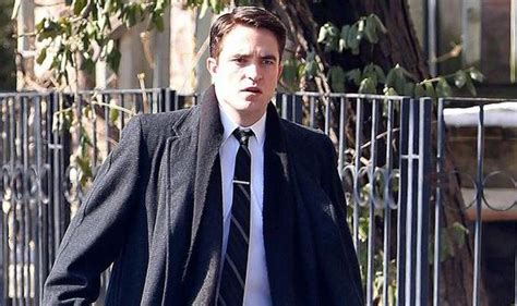 Handsome Suit 2008 Film How Suave Robert Pattinson Is Dashing In Slick Suit As He Films 50 S Era Movie Life Celebrity