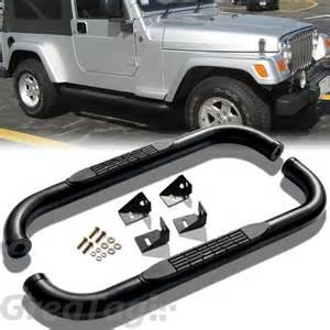 Nerf Bars For Jeep Wrangler Jeep Wrangler Nerf Bars Running Boards Steps Realtruck