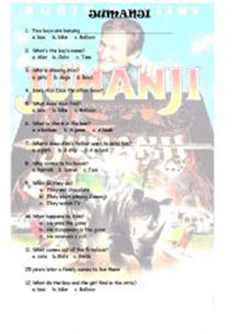 jumanji movie worksheet english worksheets jumanji