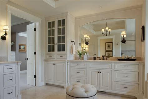 cream colored bathroom cabinets ivory or cream colored cabinets with pure white moldings
