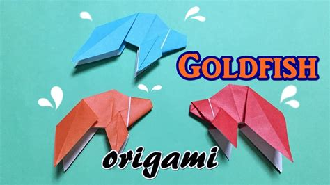 Goldfish Origami - easy and origami goldfish tutorial for beginners