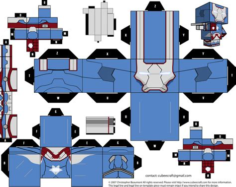 Papercraft Cubeecraft - irom patriot cubeecraft by jagamen deviantart on