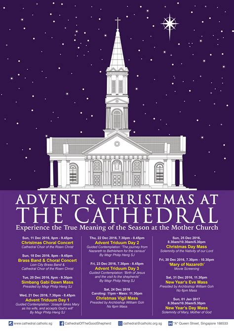 new year mass singapore advent programmes 2016 cathedral of the