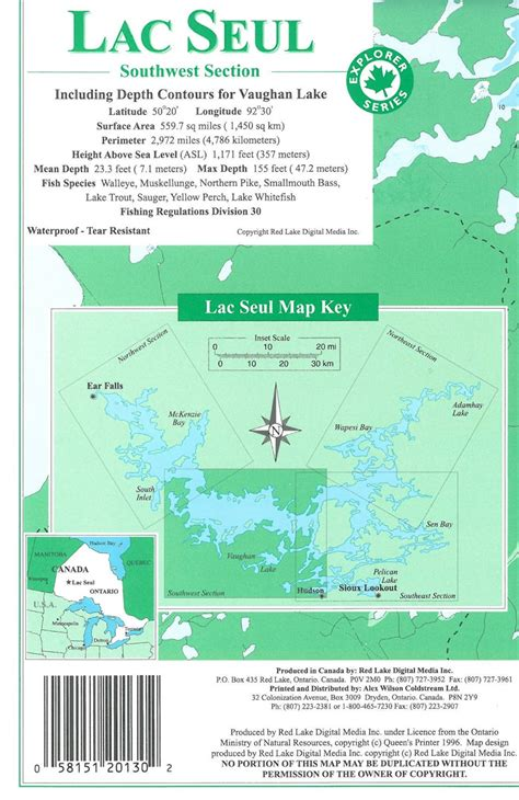 southwest section themapstore lac seul southwest section