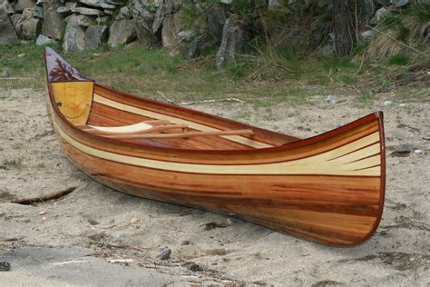 Handmade Canoe For Sale - heirloom kayak canoe wood boat idaho usa 3640