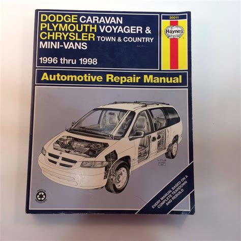 auto repair manual online 1993 plymouth voyager auto manual haynes dodge caravan plymouth voyager town country repair manual 30011 96 98 for sale in