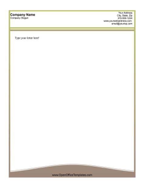 business letterhead template open office curve business letterhead openoffice template