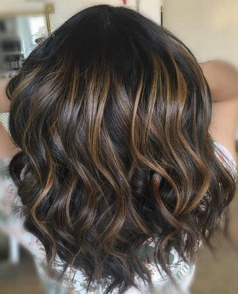 crown lowlights chocolate brown balayage highlights hair pinterest