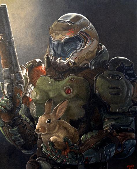 doom slayer and daisy by xous54 on deviantart