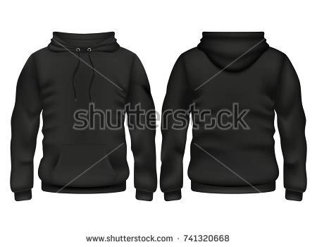 Zipper Hoodie Mario Logo 1 Hitam hoody stock images royalty free images vectors
