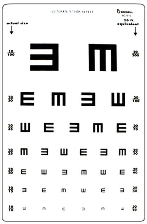 free printable rosenbaum eye chart 6 best images of pocket size snellen chart printable