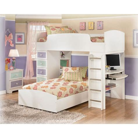 b160 68t ashley furniture madeline bedroom loft bunk bed top