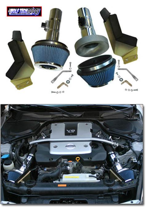 pop charger 350z motorsport pop charger dual performance intake system 07